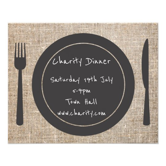 charity dinner party flyer zazzle com