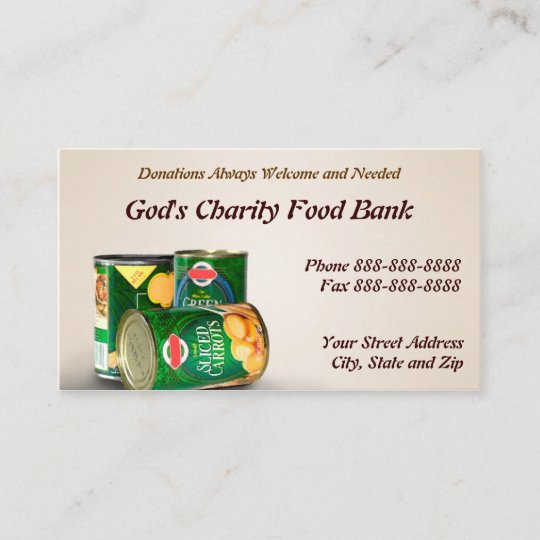 Charity food bank non profit business card zazzle charity food bank non profit business card colourmoves