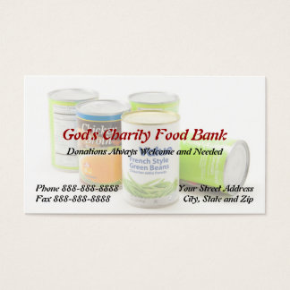 Charity Food Bank Non Profit Business Card
