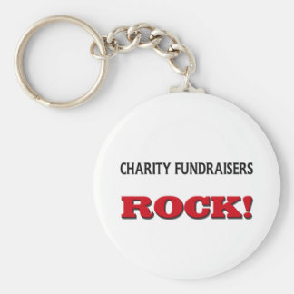 Charity Fundraisers Rock Keychains