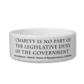 Charity is No Part Legislative Duty of Government Bowl
