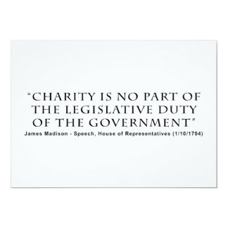Charity is No Part Legislative Duty of Government Card