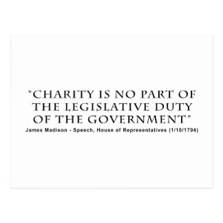 Charity is No Part Legislative Duty of Government Postcard