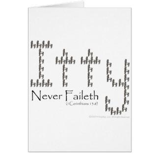 Charity Never Faileth Card
