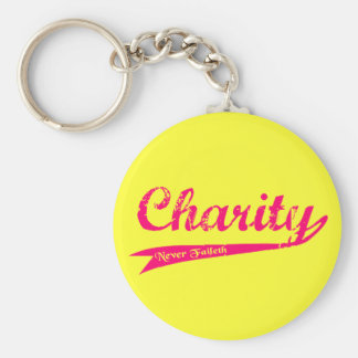 Charity Never Faileth LDS Relief Society Basic Round Button Keychain