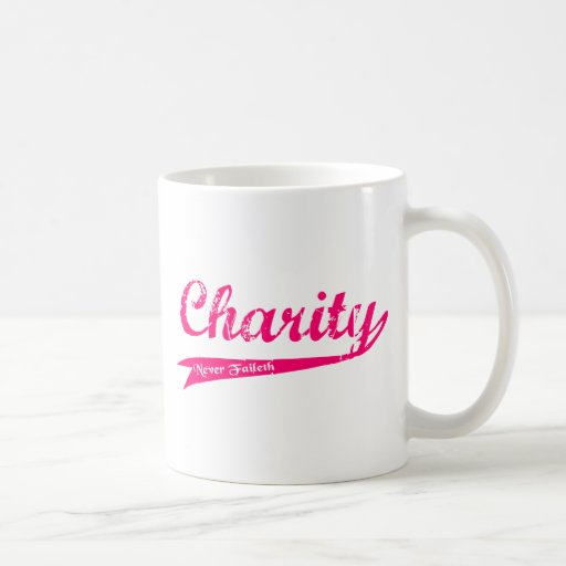Charity Never Faileth LDS Relief Society Classic White Coffee Mug