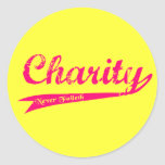 Charity Never Faileth LDS Relief Society Round Stickers