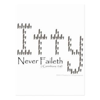 Charity Never Faileth Postcard
