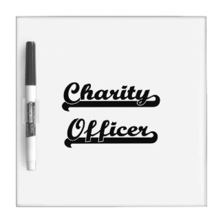 Charity Officer Classic Job Design Dry Erase Board