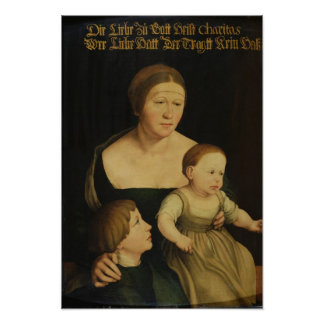 Charity or The Family of the Artist, c.1528 Poster
