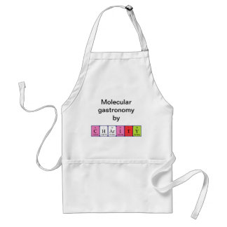 Charity periodic table name apron