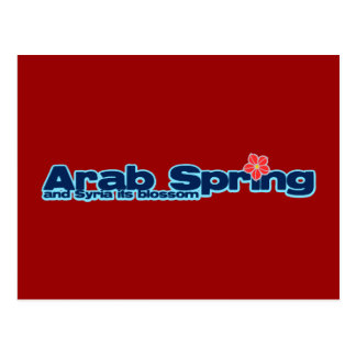 Charity project: Syria Revolution Arab Spring Postcard