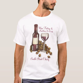 Charity Wine Tasting Event Custom Tee Shirt