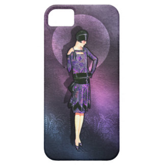 Charla - 1920s Fashion in Steel Blue and Purple iPhone SE/5/5s Case