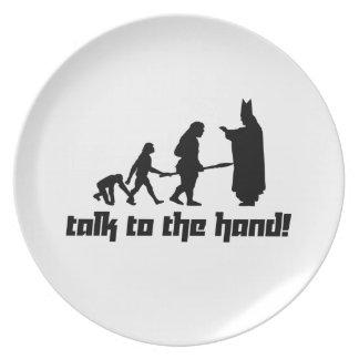 ¡Charla a la mano! Platos Para Fiestas