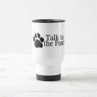Charla a la pata taza de café