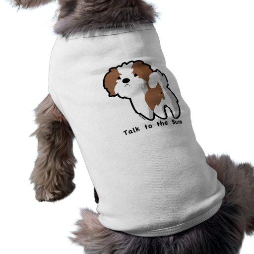 Charla a la ropa del mascota del vago playera sin mangas para perro
