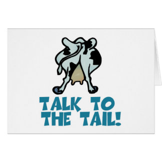 Charla a la vaca de la cola tarjetas