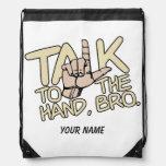 Charla al bolso del personalizado de la mano mochila