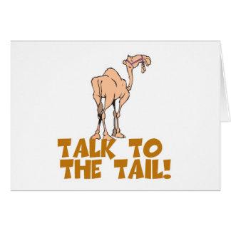 Charla al camello de la cola tarjeta