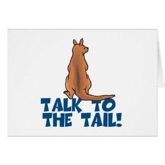 Charla al canguro de la cola tarjeta