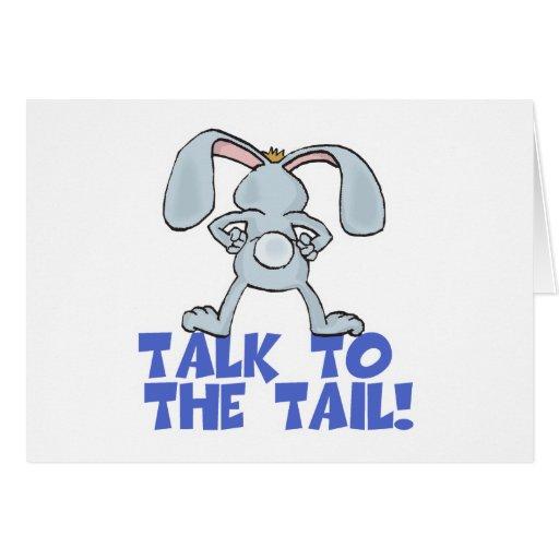 Charla al conejo de conejito de la cola tarjetas