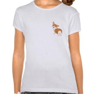 Charla al Corgi del dibujo animado de la cola T-shirts
