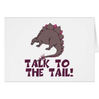 Charla al dinosaurio de la cola felicitaciones