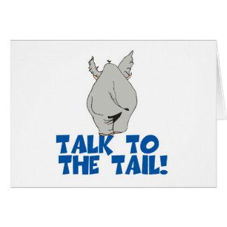 Charla al elefante de la cola felicitaciones
