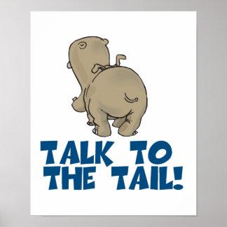 Charla al hipopótamo de la cola impresiones