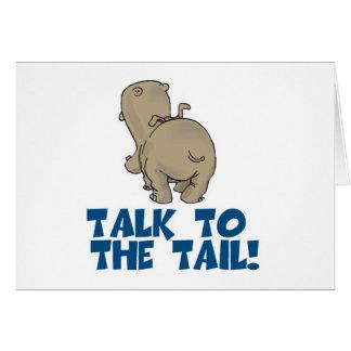 Charla al hipopótamo de la cola tarjetón