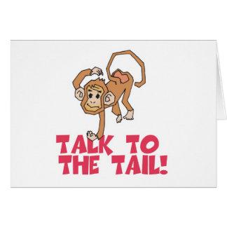 Charla al mono de la cola tarjetas