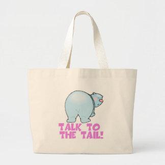 Charla al oso polar de la cola bolsa de mano