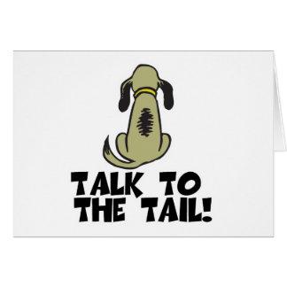 Charla al perro de la cola tarjeta