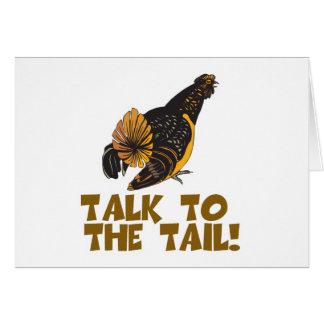 Charla al pollo de la cola tarjeta