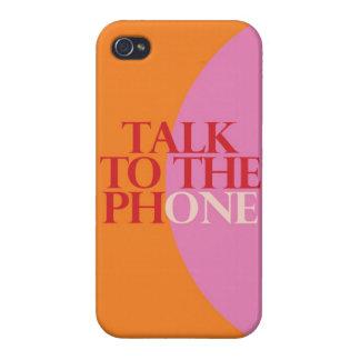 """""""Charla al teléfono """" iPhone 4/4S Funda"""