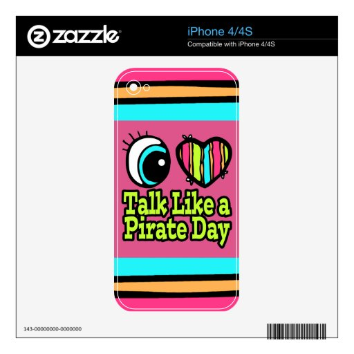 Charla brillante del amor del corazón I del ojo co Skins Para iPhone 4S