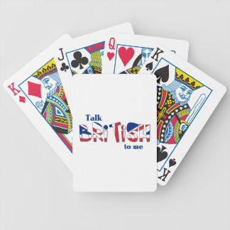Charla Británicos a mí Baraja Cartas De Poker