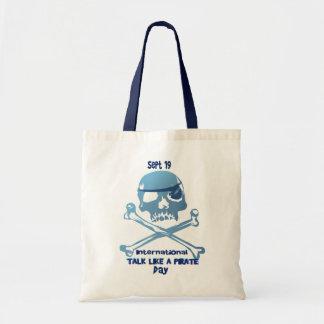 Charla como bolsos de la bandera pirata de un pira bolsa lienzo