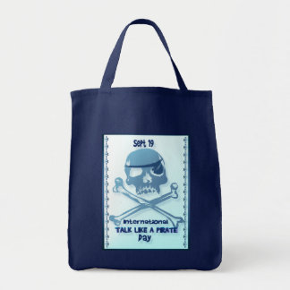 Charla como bolsos de la bandera pirata de un pira bolsas lienzo