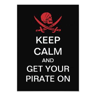 """Charla como invitaciones del pirata de un fiesta invitación 5"""" x 7"""""""