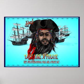 Charla como los posters de un pirata…