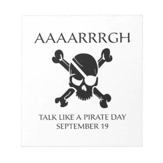 Charla como un día del pirata bloc