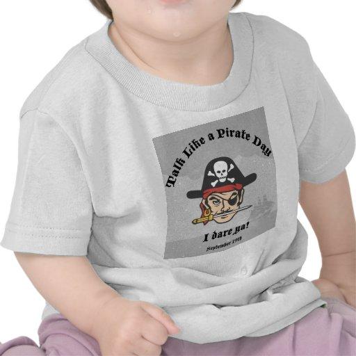 ¡Charla como un día del pirata! Camisetas