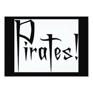 """Charla como un día del pirata invitación 5"""" x 7"""""""