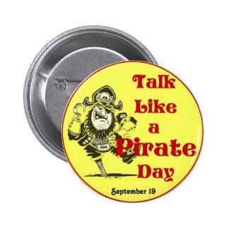 Charla como un día del pirata pin