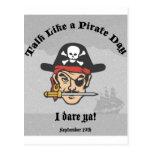 ¡Charla como un día del pirata! Postal