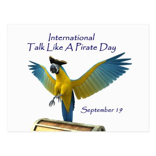 Charla como un día del pirata postales