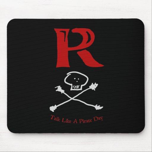 """Charla como un día """"R """" del pirata Alfombrillas De Ratones"""