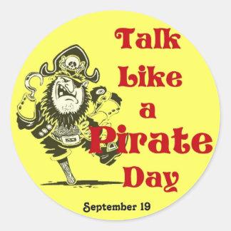 Charla como un pegatina del día del pirata